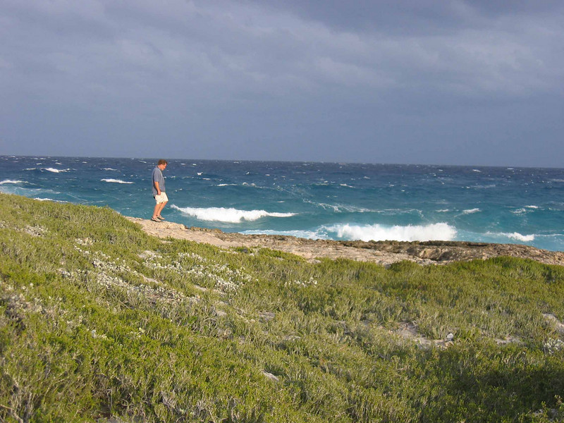Post front NE'ly breeze, Flamingo Cay, Bahamas.