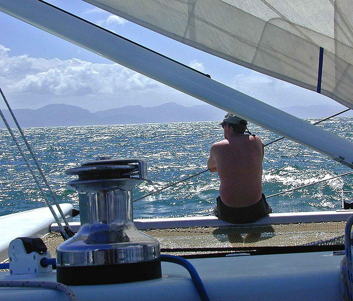off Trinidad, watchin' the world go by.