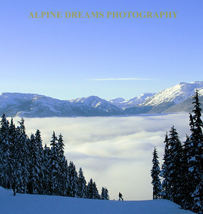 Skier above the CLOUDS     WHISTLER BC
