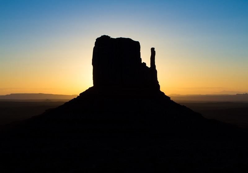 Monument Valley - Sunrise Behind