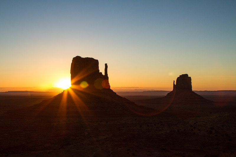 First Light - The Mittens, Monument Valley