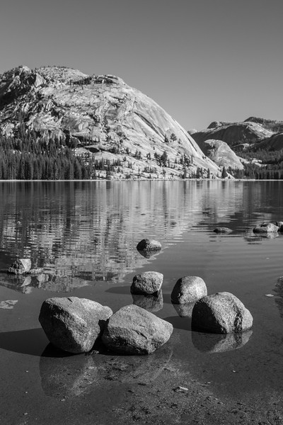 Yosemite National Park - Tenaya Lake with Rock Reflections