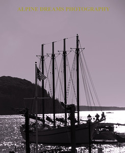 FOUR MASTED BLACK & WHITE BACKLIT