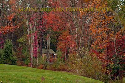 I called this COTTAGE in the POCONOS.   Shot near Bartonsville PA near the Peak Leaf peeper time in the  Fall this little old cottage begged me to capture it.  So I did.