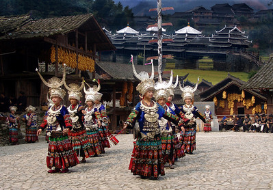 MIAO DANCERS - GUIZHOU PROVINCE, CHINA
