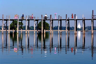 U BEIN'S BRIDGE - MANDALAY, BURMA