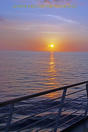 Just another beautiful sunset at sea in the Pacific.