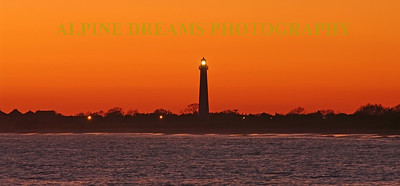 I called this ORANGE SKY & LIGHTHOUSE PANORAMIC. This sky was incredible. The light of the lighthouse came on as the sun set and the colors got more vibrant as time went on.  Yes a tripod was required.