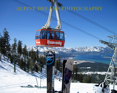HEAVENLY TRAM FROM THE TOP OF GUNBARREL