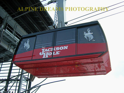 JACKSON HOLE TRAM UP CLOSE