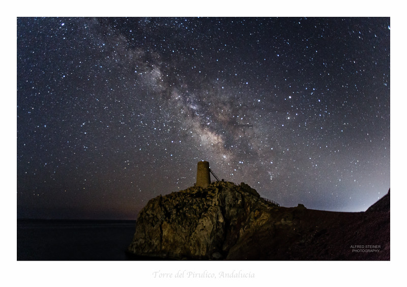 milky way over andalucia coast