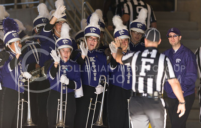 Members of the K-State Marching Band welcome referees to K-State before the football game against Iowa State at Bill Snyder Family Stadium on Nov. 25, 2017. (George Walker | Collegian Media Group)