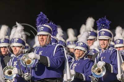 Members of the K-State Marching Band prepare to run onto the field before the football game against Iowa State at Bill Snyder Family Stadium on Nov. 25, 2017. (George Walker | Collegian Media Group)