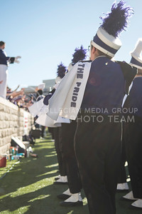 The Wildcat Pride Marching Band plays for Kansas State students at Bill Snyder Family Stadium for the homegame against the Iowa State Cyclones in Manhattan, Kan., on Nov. 25, 2017. (Olivia Bergmeier | Collegian Media Group)