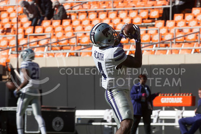 The Kansas State Wildcats football team played the Oklahoma State University Cowboys at Boone Pickens Stadium in Stillwater, Okla. on Nov. 18, 2017. The Wildcats went on to win with a final score of 45-40. (Photo by Justin Wright | Collegian Media Group)
