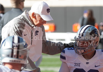 The Kansas State Wildcats football team played the Oklahoma State University Cowboys at Boone Pickens Stadium in Stillwater, Okla. on Nov. 18, 2017. The Wildcats went on to win with a final score of 45-40. (Photo by Justin Wright   Collegian Media Group)