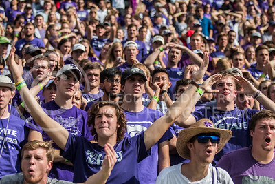 The Kansas State Wildcats play the Texas Christian University Horned Frogs at Bill Snyder Family Stadium on Oct. 14, 2017. The Wildcats lost with a final score of 6 to 26. (Logan Wassall | Collegian Media Group)