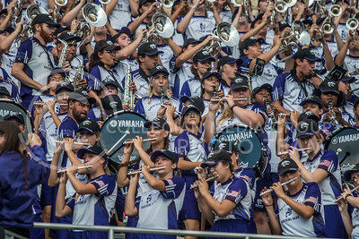 K-State Band at Bill Snyder Family Stadium on Oct. 14, 2017. (Logan Wassall | Collegian Media Group)