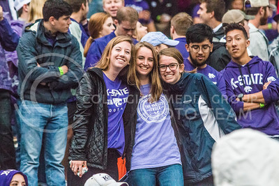 Fans at Bill Snyder Family Stadium on Oct. 14, 2017. (Logan Wassall | Collegian Media Group)