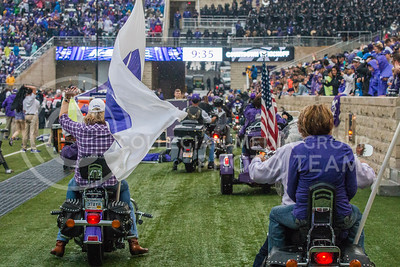 Motorcycles at Bill Snyder Family Stadium on Oct. 14, 2017. (Logan Wassall | Collegian Media Group)