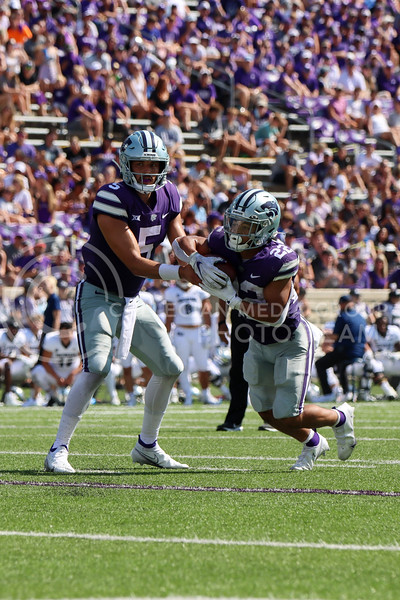 Quarterback Jaren Lewis, Sophomore in Social Sciences, passes the ball to running back Deuce Vaughn, Sophomore in Business Administration, in the 2rd quarter against the University on Nevada Reno on September 18th (Kendall Spencer | Collegian Media Group).