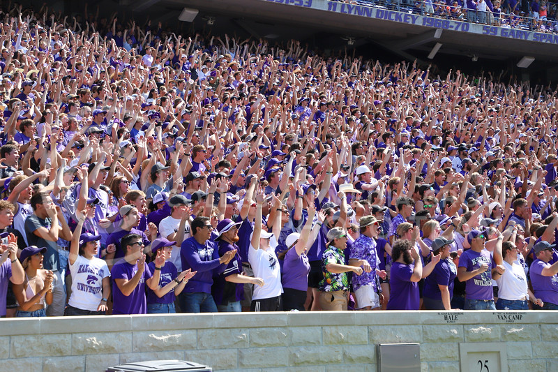 The student section cheering after a scored touchdown at the September 18, 2021 game against the University of Nevada.