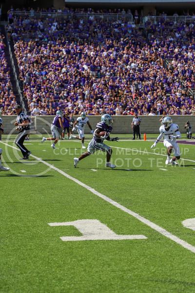 Running back Joe Ervin moves the ball down field during the September 18, 2021 game against Nevada.