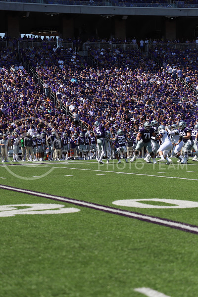 Quarterback Jaren Lewis passing the ball down the field during the game against Nevada on September 18, 2021.