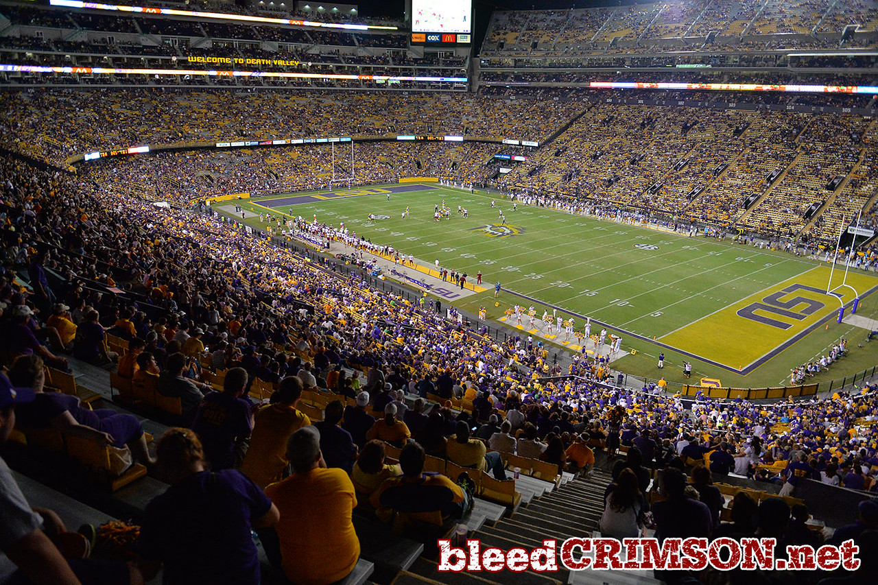 September 5, 2014: The New Mexico State Aggies take on the No. 17/18 LSU at Tiger Stadium in Baton Rouge, LA.