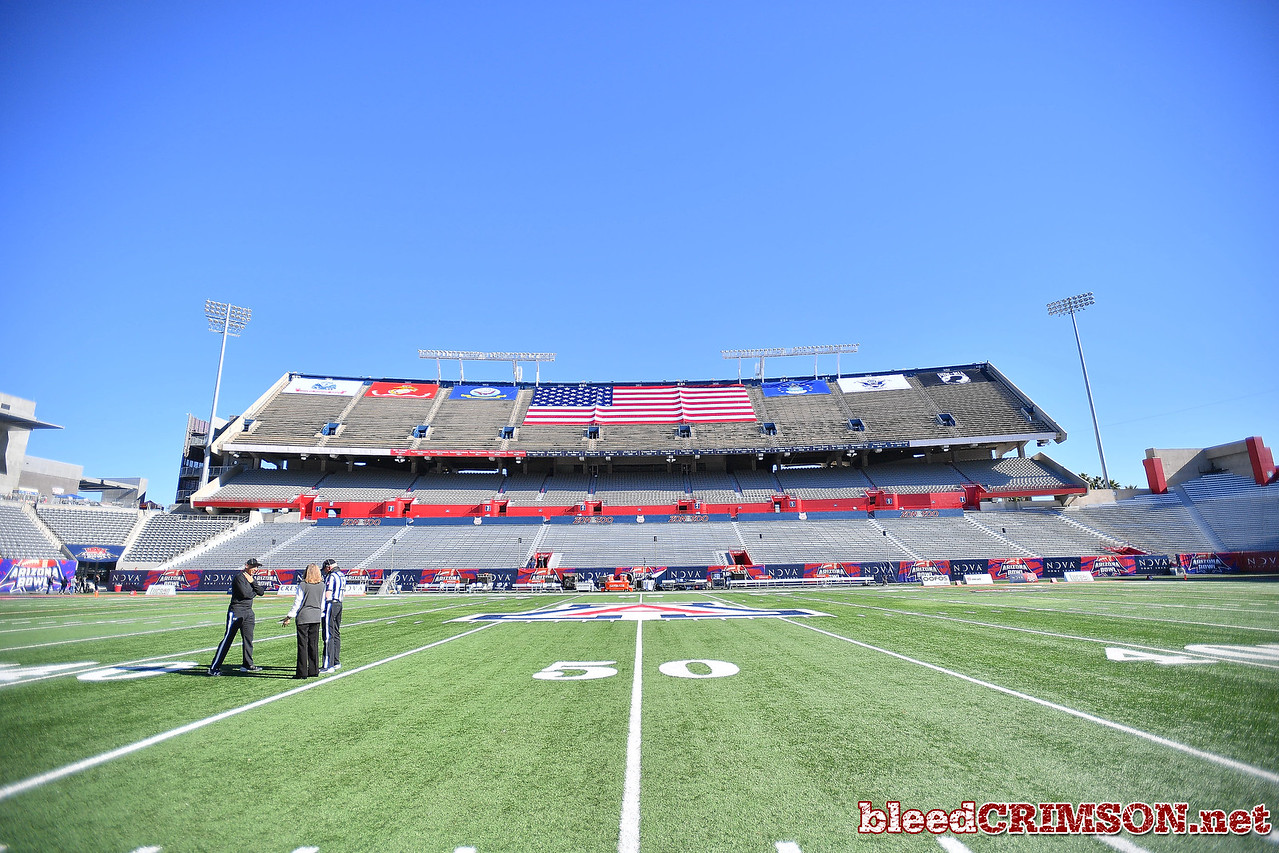 December 29, 2017; Tucson, AZ, USA;  A general view of the stadium before a game between the New Mexico State Aggies and the Utah State Aggies in the NOVA Home Loans Arizona Bowl at Arizona Stadium in Tucson, Ariz.  Photo by Sam Wasson/bleedCrimson.net
