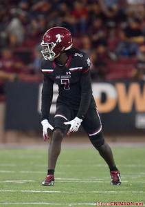 LAS CRUCES, NEW MEXICO - OCTOBER 05, 2019:  Wide receiver Terrell Warner #7 of the New Mexico State Aggies waits for the snap during his team's game against the Liberty Flames at Aggie Memorial Stadium on October 05, 2019 in Las Cruces, New Mexico.  (Photo by Sam Wasson)