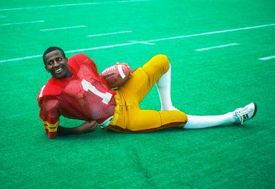 David Holley poses at Iowa State Cyclones football media day in 1981. Photo © Wesley Winterink.