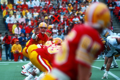 Scene from Iowa State vs Iowa football game in Ames, Iowa in 1987. Photo © Wesley Winterink.
