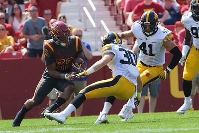 Scene from the Iowa State vs Iowa football game at Jack Trice Stadium in Ames, Iowa on September 9, 2017. Photo by Wesley Winterink.