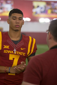 Scene from Media Day for Iowa State Football on August 3, 2017 in Ames, Iowa. Photo by Wesley Winterink.