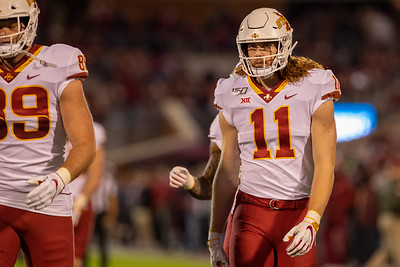Scene from NCAA football game between Oklahoma and Iowa State in Norman, Oklahoma on November 9, 2019. Photo © Wesley Winterink.