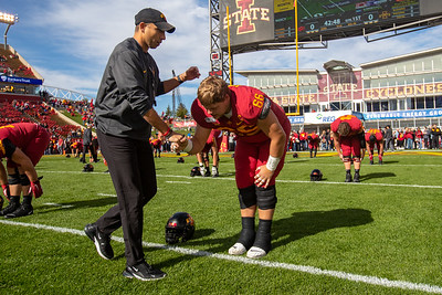 Scene from Iowa State vs Oklahoma State football game at Jack Trice Stadium in Ames, Iowa on October 26, 2019. Photo © Wesley Winterink.