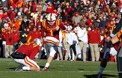 The Iowa State Cyclones defeat the Texas Tech Red Raiders 66-10 at Jack Trice Stadium in Ames, Iowa on November 19, 2016. Photo by Wesley Winterink.