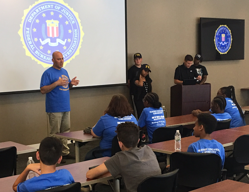 . Teenagers in class during a session of the academy for youngsters hosted annually by the FBI.