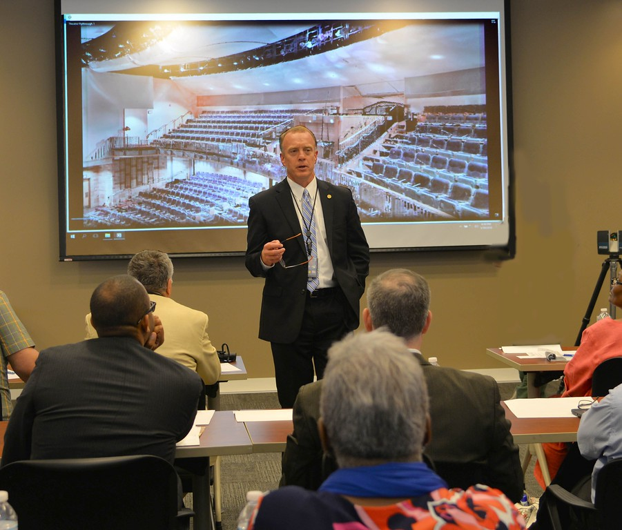 . Special Agent in Charge of the Detroit Division, Timothy Slater speaks to the 2018 FBI Citizens Academy about the investigative work that\'s done by his team of agents.