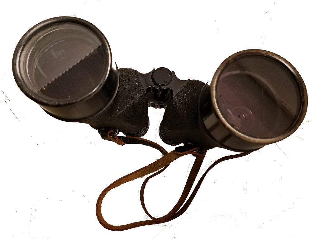 . Over the years FBI specialists have used a variety of cameras to combat crime. This is a set of binoculars fitted with a concealed cmaera from the early 1960s.