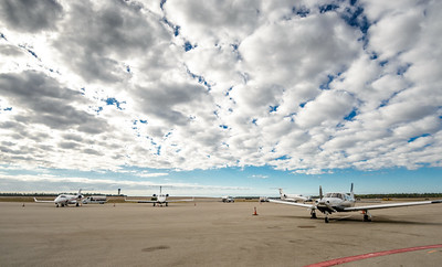 Planes on the tarmac at Million Air