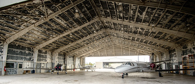One of the Million Air Hangers