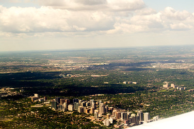 Flying into Toronto