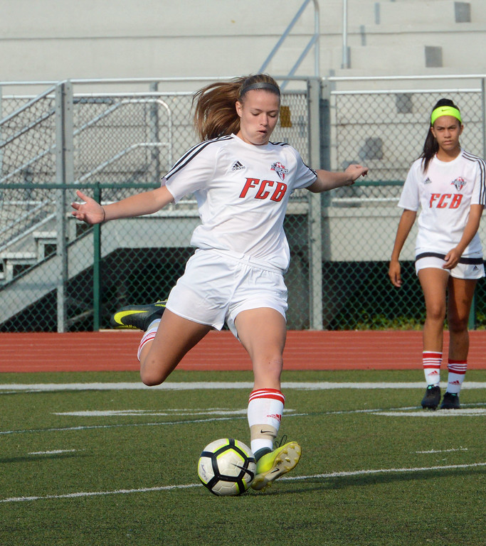 . Tessa Krippel gets everything into kick.