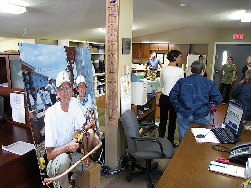 09 04-16 4th anniversary  - poster of Linda & Millard at JCWP in Houston, Texas. ff