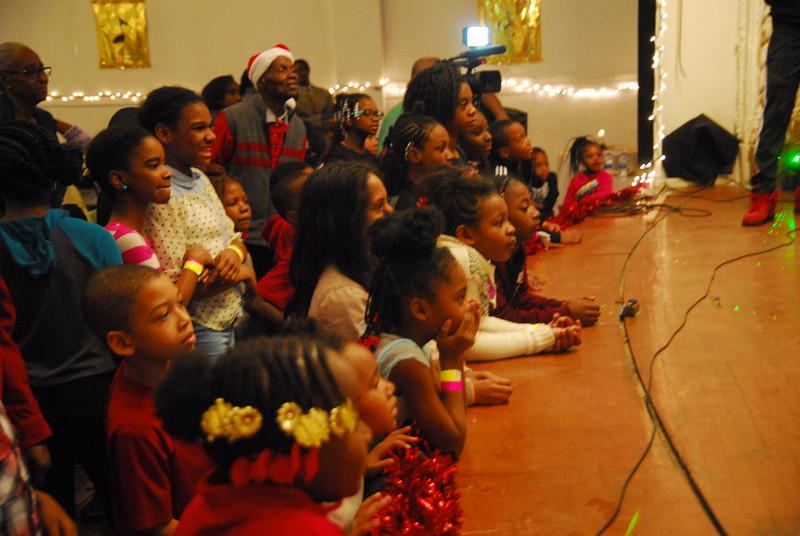 Children enjoy entertaining program.