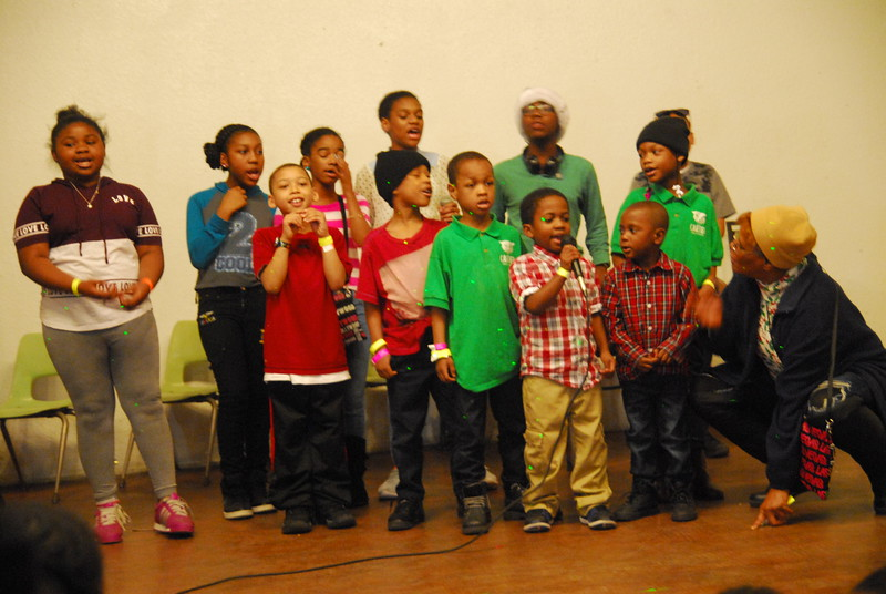 Youngsters perform for audience.