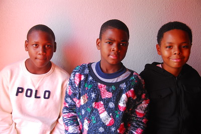 Young men attended the Englewood gift giveaway and program held Dec. 23.