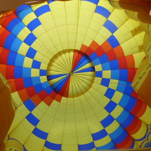 Looking up inside just before deflation.